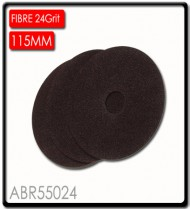 FIBRE DISC 115MM 24 GRIT BULK