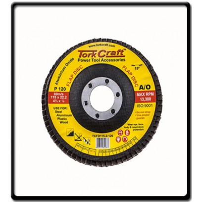 FLAP DISC 115MM 15 DEG.ANGLE 120GRIT