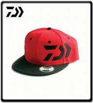 Flat Peak Truckers Cap - Red/Black | Daiwa
