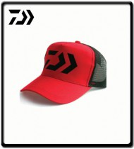 Curved Truckers Cap - Red/Black Mesh | Daiwa