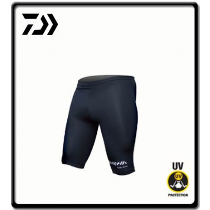 Small - Lycra Rash Shorts - Black | Daiwa