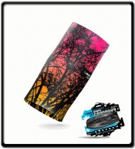 Tree Black Pink Coral   CliMate Sports Scarfs