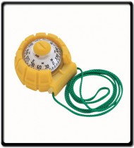 Hand Bearing Compass SportAbout X-11 w/ Sialum Slot, Yellow