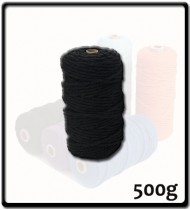 4mm - Macramé Cotton - Black| 500g