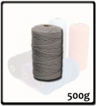 4mm - Macramé Cotton - Light Grey| 500g