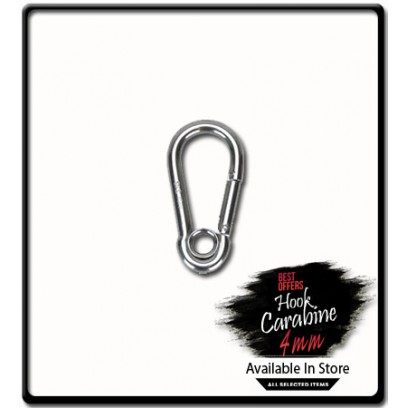 4mm x 40 Carabine Hook with Eyelet | Galvanized