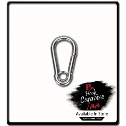 7mm x 70 Carabine Hook with Eyelet | Galvanized