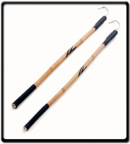 5m Bamboo Pole   Stainless Steel  Gaff