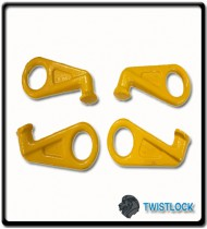 Container Lifting Lug Set - Side Entry | 4 Lugs with Quadruple Chain Slings