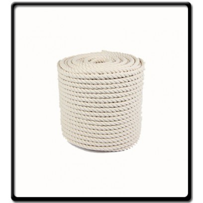 10mm | 3-Strand Cotton Rope | SOLD PER METER