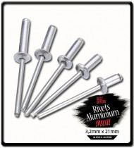 3.2mm x 21mm Blind Rivet Aluminium | PK25