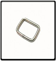 """Stainless Steel Square """"D""""Ring 4mm x 25mm"""