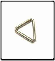 """Stainless Steel Triangular """"D""""Ring 4mm x 25mm"""