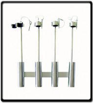 4 Rod Holder - Stainless Steel with locking latches and pins