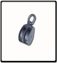 25mm Awning Pulley | Double Cast Sheave Swivel Eye