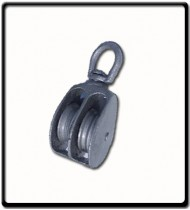 50mm Awning Pulley | Double Cast Sheave Swivel Eye