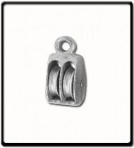 38mm Awning Pulley | Double Cast Sheave Fixed Eye