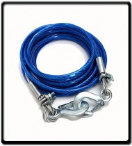 4m Coated Steel Tow-Rope with Hooks