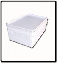 White Meat Tray with Lid | 550 x 350 x 180mm