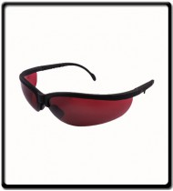 SAFETY GLASSES RED LENS