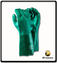 Green PVC Tex/Elbow Glove