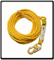 6m- Rope Life Line with Hook