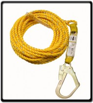6m - Rope Life Line with Scaffolding Hook