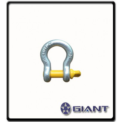 1 Ton | Bow - Shackle | Screw Pin Type, Grade S, Yellow Pin