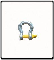 0.75 Ton | Bow - Shackle | Screw Pin Type, Grade S, Yellow Pin