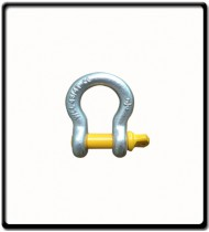 1.5 Ton | Bow - Shackle | Screw Pin Type, Grade S, Yellow Pin