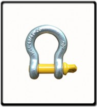 12 Ton | Bow - Shackle | Screw Pin Type, Grade S, Yellow Pin