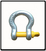 17 Ton | Bow - Shackle | Screw Pin Type, Grade S, Yellow Pin