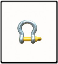 2 Ton | Bow - Shackle | Screw Pin Type, Grade S, Yellow Pin