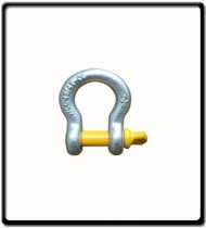 3.25 Ton | Bow - Shackle | Screw Pin Type, Grade S, Yellow Pin