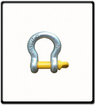 4.75 Ton | Bow - Shackle | Screw Pin Type, Grade S, Yellow Pin