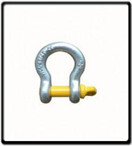 6.5 Ton | Bow - Shackle | Screw Pin Type, Grade S, Yellow Pin