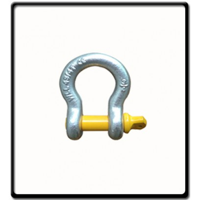 8.5 Ton | Bow - Shackle | Screw Pin Type, Grade S, Yellow Pin