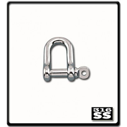 10mm D-Shackle   Stainless Steel