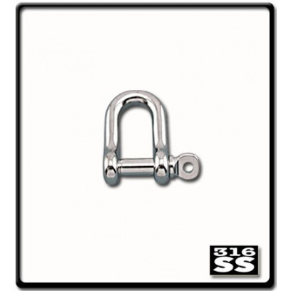 6mm D-Shackle | Stainless Steel