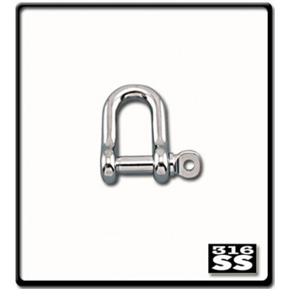 8mm D-Shackle   Stainless Steel