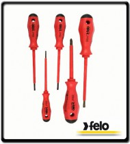 Series 513 Magnetic Insulated VDE Screwdrivers - 5 Piece | Felo Tools
