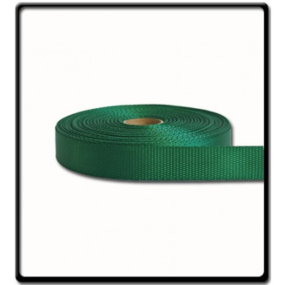 25mm – 2 Ton Industrial Webbing Green | SOLD PER METER