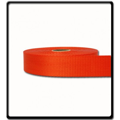 35mm – 2 Ton Industrial Webbing Orange | SOLD PER METER