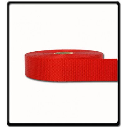 35mm – 2 Ton Industrial Webbing Red | SOLD PER METER