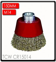 WIRE CUP BRUSH CRIMPED 150MMXM14 BLISTER