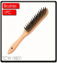 WIRE HAND SCRATCH BRUSH WOOD HANDLE