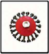 WIRE CUP BRUSH TWISTED BEVEL PLAIN 115MMXM14 BLISTER