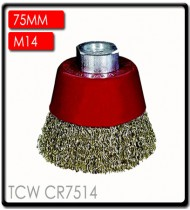 WIRE CUP BRUSH CRIMPED 75MMXM14 BLISTER