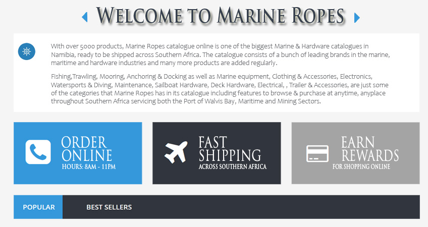 Welcome to Marine Ropes