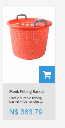 Plastic Monk Fishing basket with handles